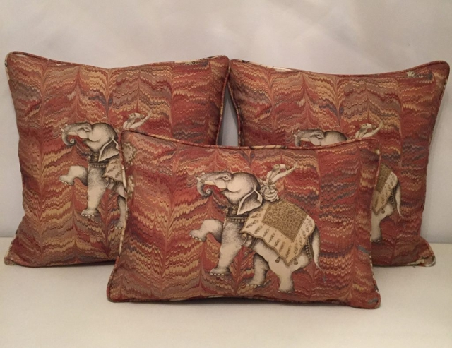 Elephant pattern cushions
